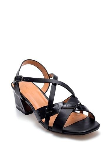 Derimod Kadın Sandalet (Zs345-Z11) Casual Siyah
